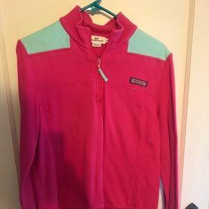 Vineyard Vines Shep shirt pink and blue